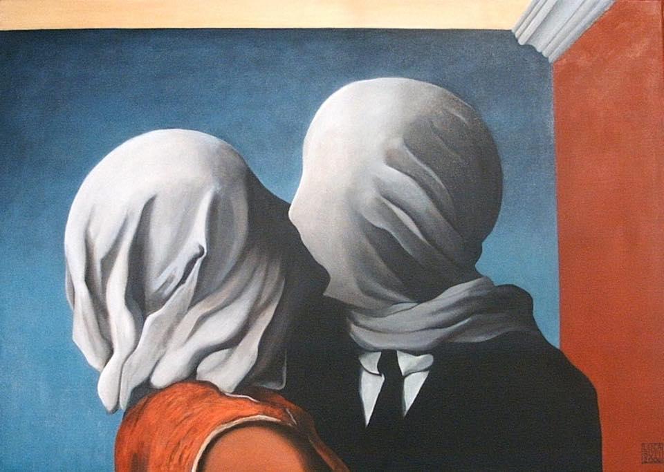 Sketchingunderground_Manieri_Covid19_Magritte_Les Amants_1928